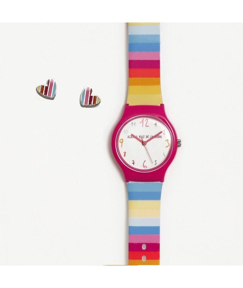 PACK: Reloj Flip Arcoiris +...