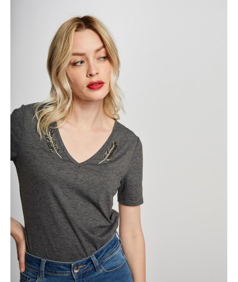 Camiseta con adorno Morgan